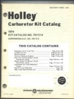 THE CARBURETOR SHOP / Holley Literature for sale