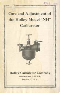 THE CARBURETOR SHOP / Holley Literature for sale