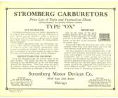 THE CARBURETOR SHOP / Stromberg Literature for sale